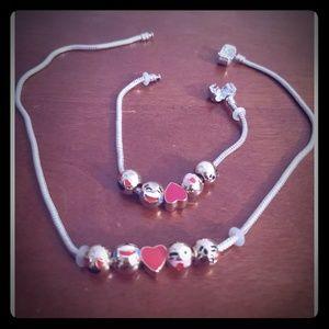 Cute Emoji Necklace and Bracelet Bundle :)